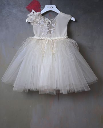 Feather Tutu Baby Dress-01