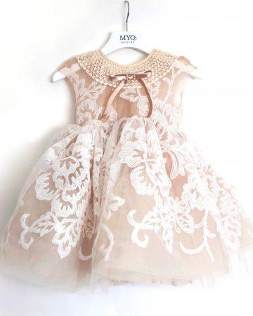 Nude Tutu Baby Dress-01
